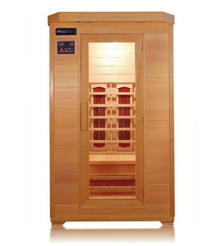 Sunray Kensington Two-Person Infrared Sauna HL200B, Natural Hemlock - SaunaTown.com