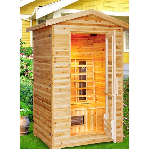 SunRay Burlington 2 Person Outdoor Infrared Sauna HL200D - SaunaTown.com