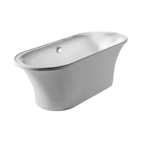 Whitehaus Collection Oval Double Side Freestanding Acrylic Soaking Bathtub WHBL175BATH - SaunaTown.com
