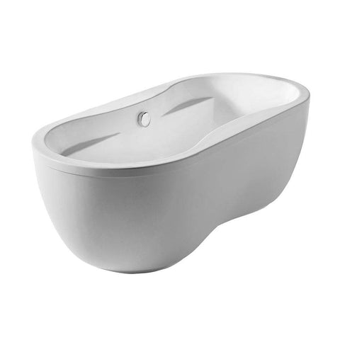 Whitehaus Collection Oval Double Sided Freestanding Acrylic Bathtub WHDB170BATH - SaunaTown.com