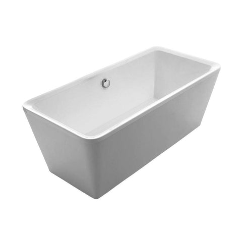 Whitehaus Double Sided Freestanding Acrylic Soaking Bathtub WHHQ170BATH - SaunaTown.com