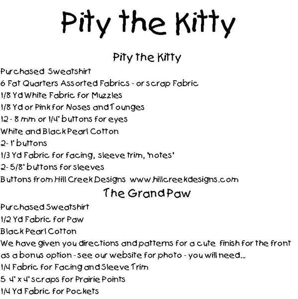Pity the Kitty