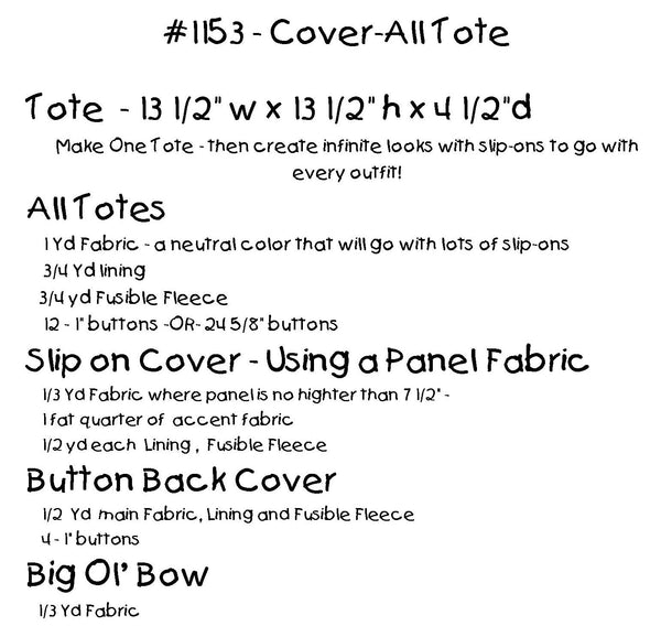 Cover-All Tote