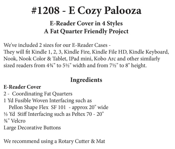E-Cozy Palooza: E-Reader Cover