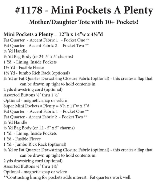 Mini Pockets A Plenty