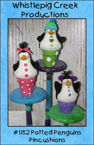 Potted Penquins Pincushion