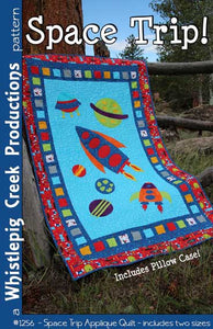 Space Trip Quilt and Pillow Case