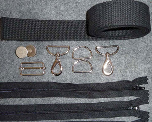 Zerba Hardware, Zipper & Strap Kit