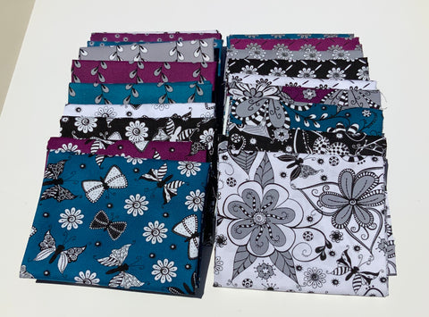 Ink Blossoms 2 Fat Quarter Bundle