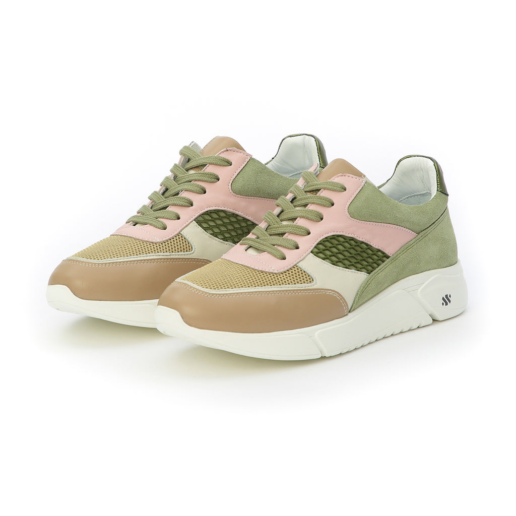 Ari - soft khaki and pink
