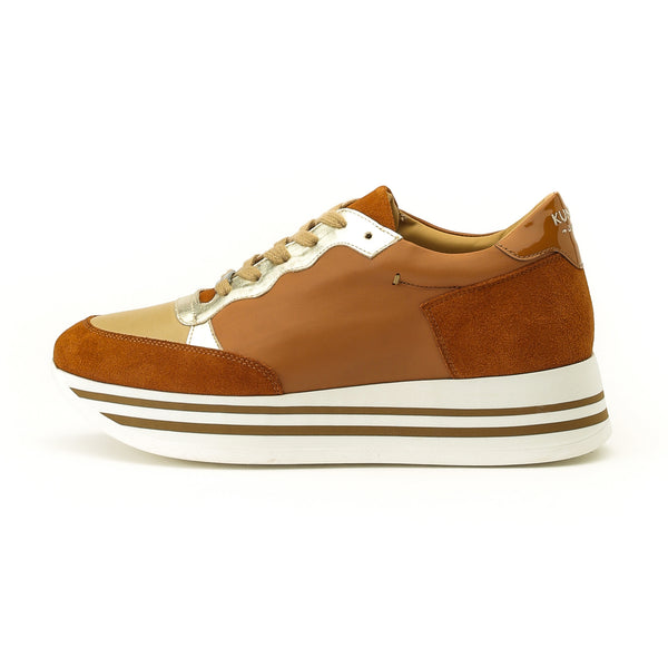 Kunoka Stripy - brick Sneaker brown