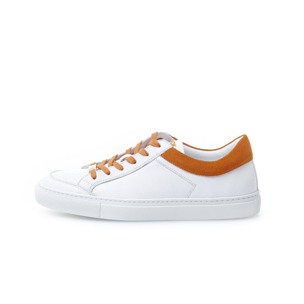Kunoka Gabrielle - white/orange colar Sneaker white