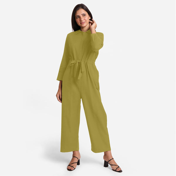 Green Wide Legged Cotton Overall