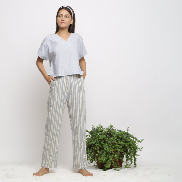 Handspun V-Neck Top and Tapered Pant Set