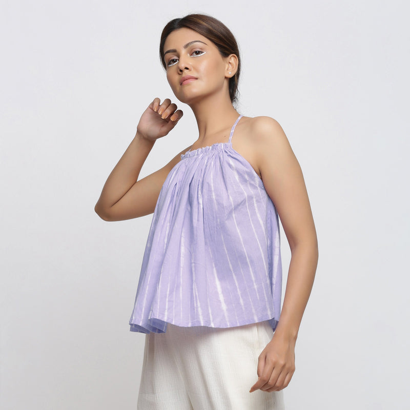Lavender Tie Dye Strappy Camisole Top