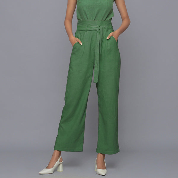 Moss Green Cotton Corduroy Pant