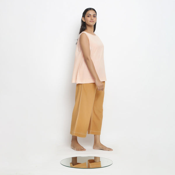 Vegetable Dyed A-Line Top and Rust Pant Set