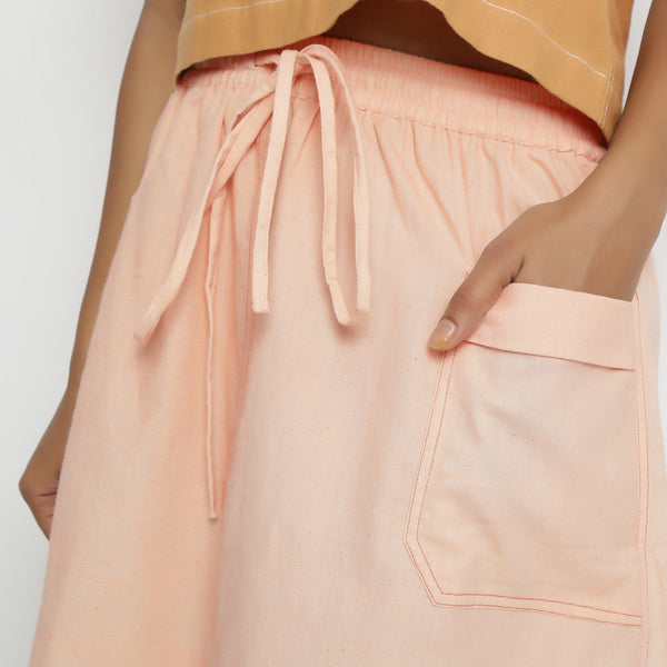 Vegetable Dyed Powder Pink Paneled Skirt