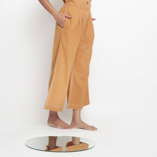 Vegetable Dyed Rustic Wide Legged Pant