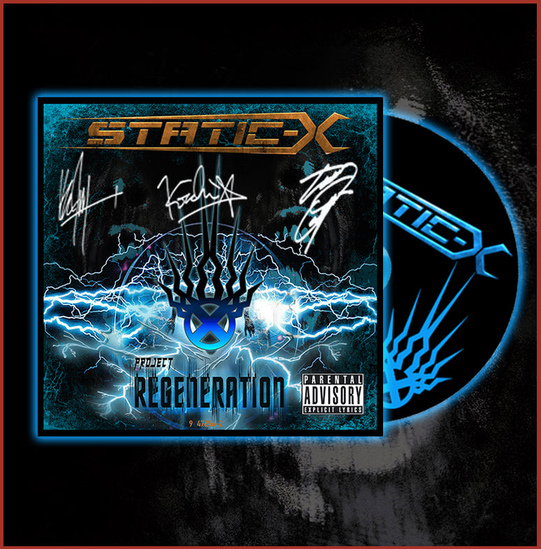 "(Pre Order) Autographed Static-X ""Project Regeneration"" Full Length Album DigiPak - Name in Liner Notes - Digital download of Album upon release"