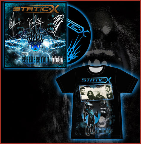 (Pre Order Shirt - DigiPak Combo) Limited Autographed DigiPak - Limited T-Shirt - Name in Liner Notes - Digital download