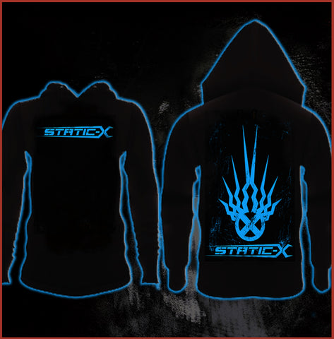 Static-X Shock Symbol Zip Up Hoodie