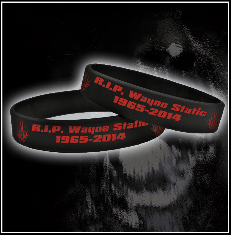 Limited Edition Wayne Static Memorial Rubber Bracelet