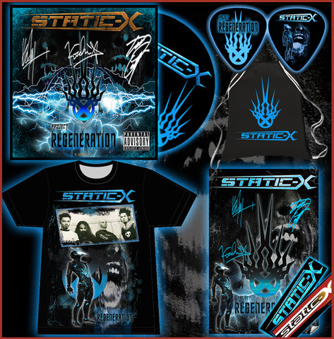 (Pre Order Shirt Bundle)  Limited Autographed DigiPak - Autographed Poster - T-Shirt - Commemorative Guitar Pick - Tote Bag - Sticker Pack - Name in Liner Notes - Digital download