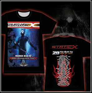 Xero Guitar Tee With Tour Dates