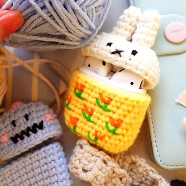 Bunny Knitted Airpod Case
