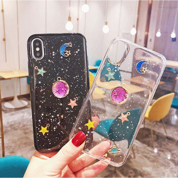 Cute Colorful Universe Galaxy Galactic iPhone Case