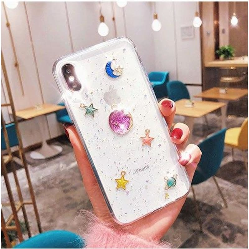 Colorful Universe Case - Transparent / iPhone 6/6S