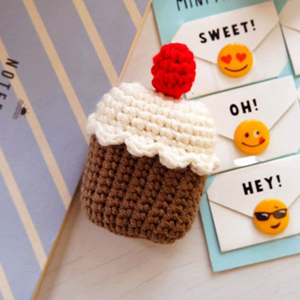 Cupcake Knitted Airpod Case
