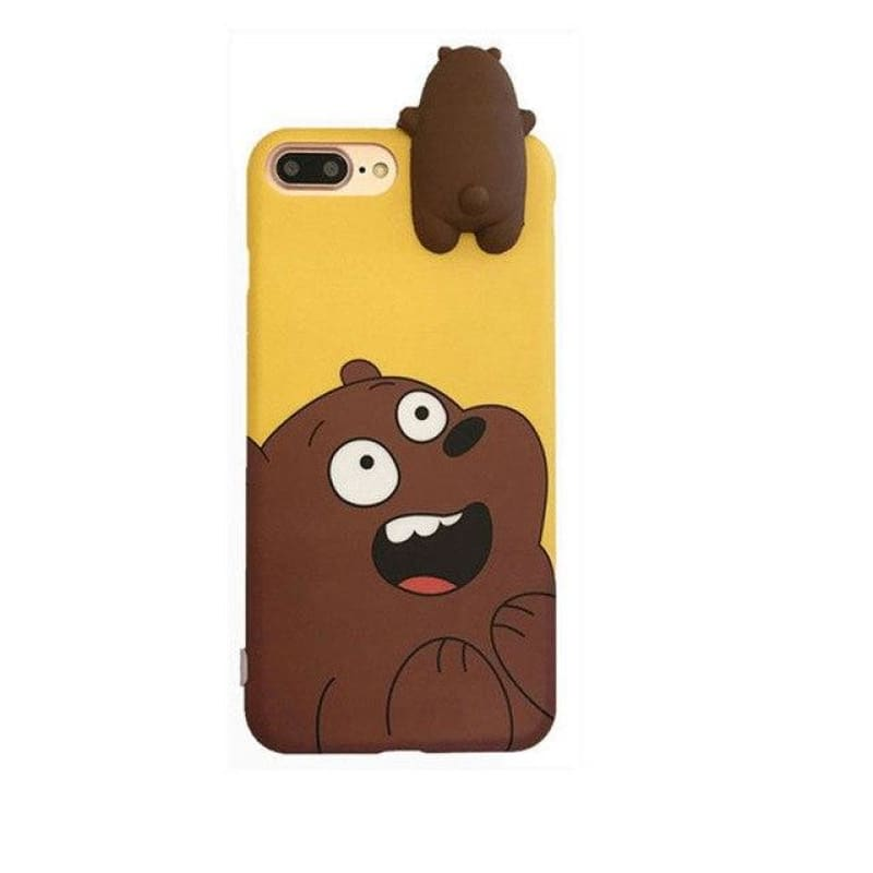 Cute Animal Case - Grizzly Bear / iPhone X