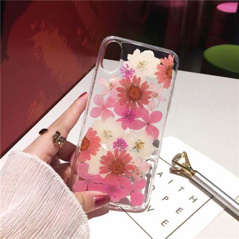 Dried Sunflower Case - Pink / iPhone X