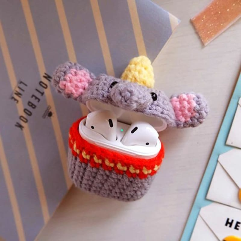 Elephant Knitted Airpod Case