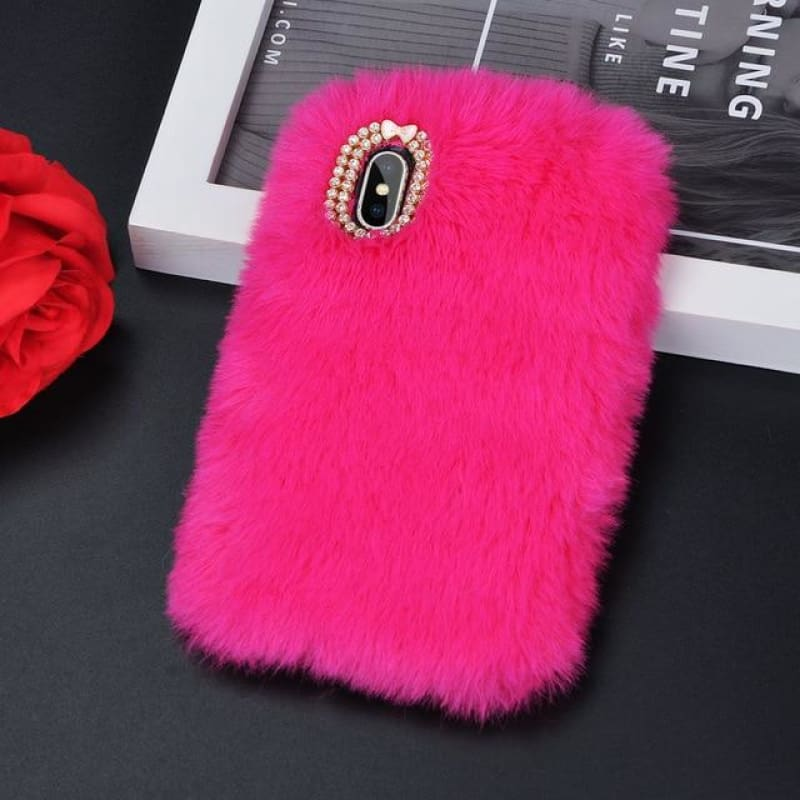 Faux Fur Case - Shock Pink / iPhone 5/5S SE