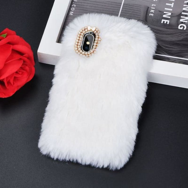 Faux Fur Case - Snow White / iPhone 5/5S SE