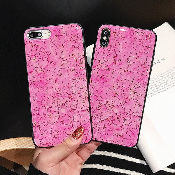 Cute Pink Marble iPhone Case