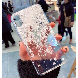 Shiny Snowflakes Case - Transparent / iPhone 6/6S