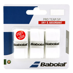 Babolat Pro Team SP Overgrips - White (3 pack)