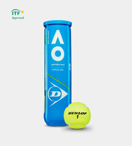 Dunlop AO Australian Open Tennis Balls - 4 ball can