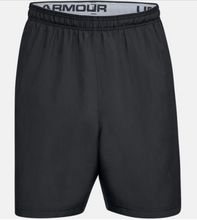 Load image into Gallery viewer, Under Armour Men's Woven Wordmark Shorts - Black/Grey