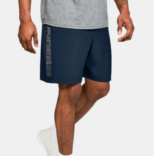 Load image into Gallery viewer, Under Armour Men's Woven Wordmark Shorts - Navy/Grey