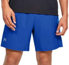 "Load image into Gallery viewer, Under Armour Men's Launch SW 7"" Running Shorts - Blue"