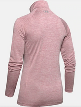 Load image into Gallery viewer, Under Armour Women's Tech Tech 1/2 Zip Long Sleeve - Twist - Pink (662)