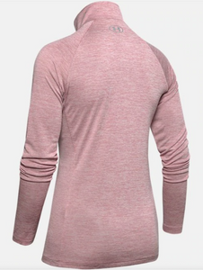 Under Armour Women's Tech Tech 1/2 Zip Long Sleeve - Twist - Pink (662)
