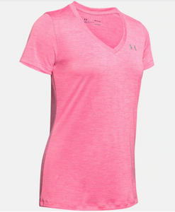 Under Armour Women's Twist Tech™ V-Neck T-Shirt - Lipstick (691)