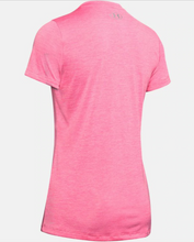Load image into Gallery viewer, Under Armour Women's Twist Tech™ V-Neck T-Shirt - Lipstick (691)