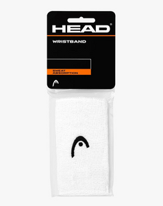 "Head Jumbo 5"" Wristbands - White (2 pack)"